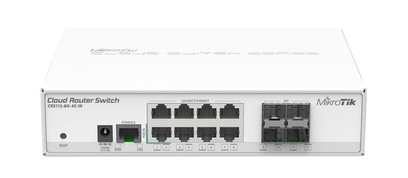 Mikrotik 8-port GigE + 4x SFP Cloud Router Switch (CRS112-8G-4S-IN)