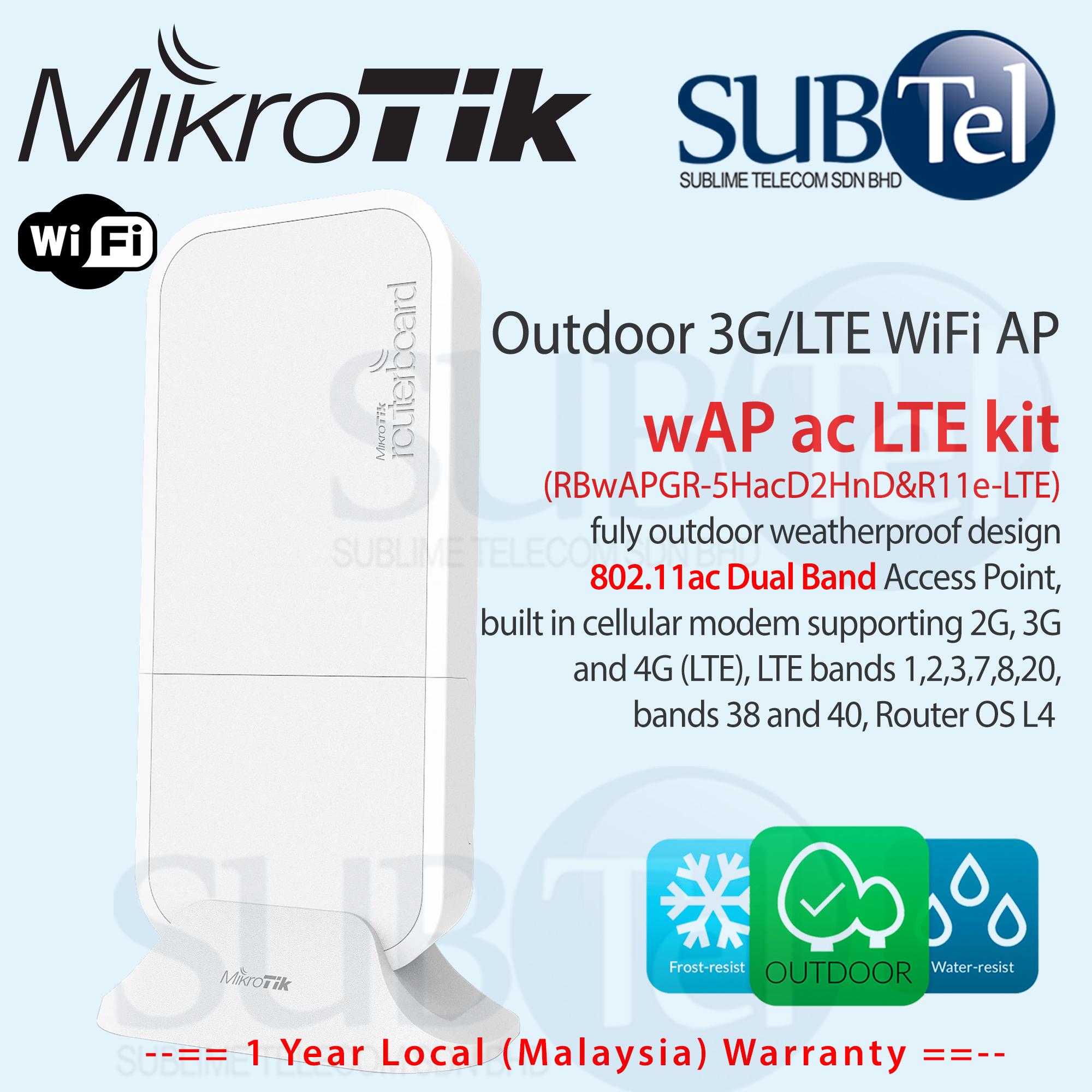 Mikrotik wAP ac LTE Outdoor 2G 3G 4G Router Modem & WiFi AP Malaysia