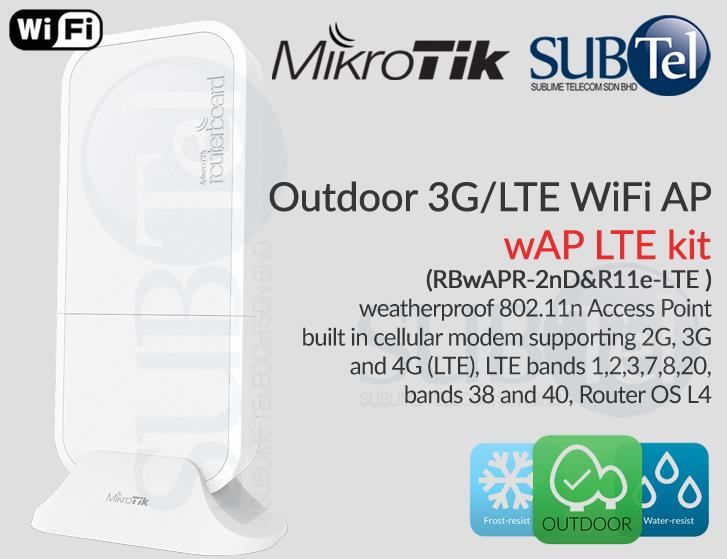 Mikrotik wAP LTE Outdoor 2G 3G 4G Router Modem with WiFi AP Malaysia