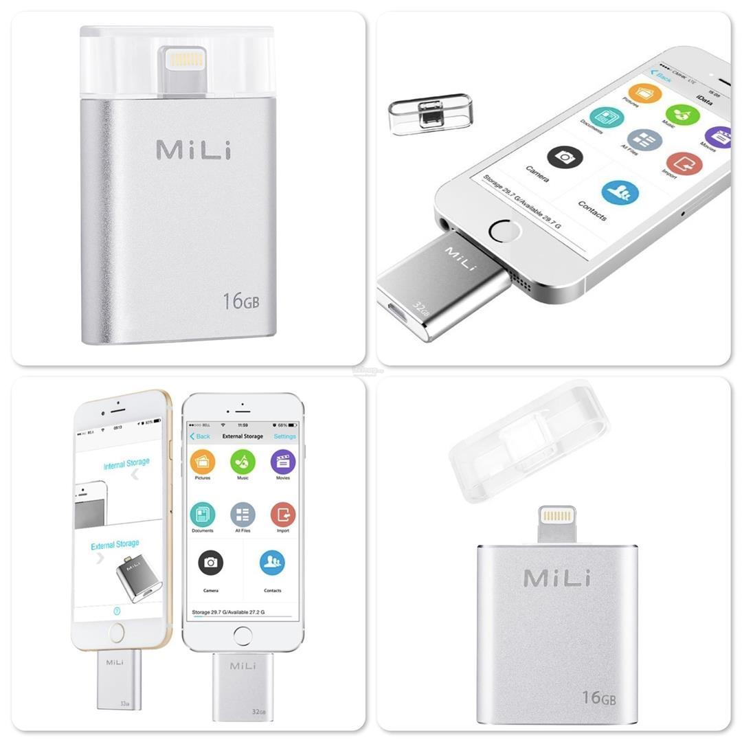 MiLi iData Pro 32GB 64GB 128GB Lightning Flash Drive USB 3 0 OTG .