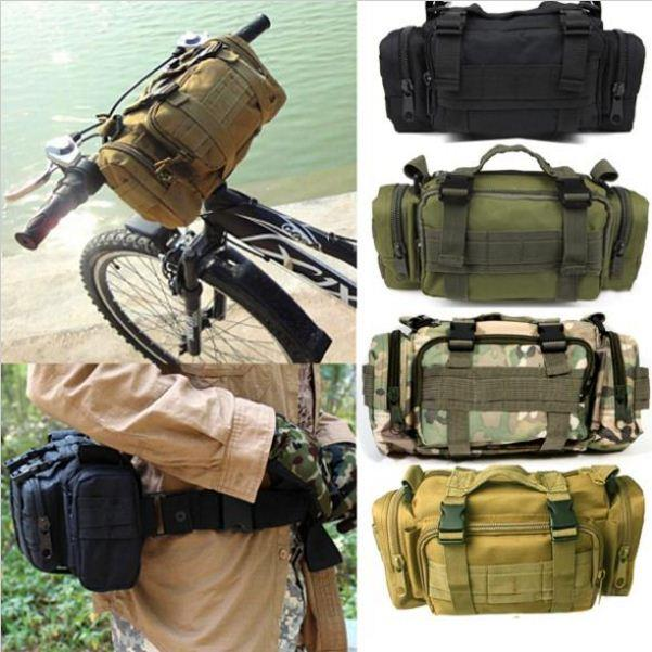 Military Army Bag Shoulder Waist Pouch Sling Cycling Hiking