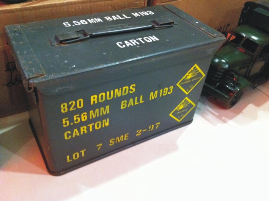 Military Bullet Box / Caliber Ammo storage box 5.56mm. u2039 u203a & Military Bullet Box / Caliber Ammo s (end 7/11/2016 1:15 AM)
