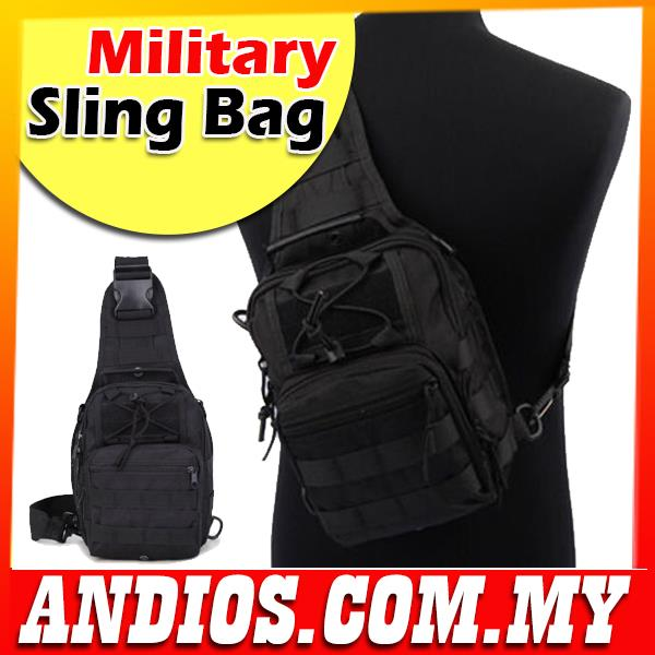 Military Shoulder Chest Pouch Sling Bag Army Cycling Hiking Beg