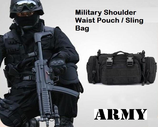 Military Shoulder Waist Pouch Sling (end 6/19/2016 6:09 PM)