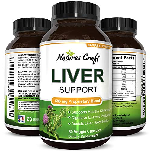 Milk Thistle Liver Support Supplement for Detox Antioxidant Benefits Digestive