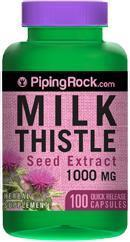 Milk Thistle Seed Extract, Silymarin, 1000 mg (100 Capsules)