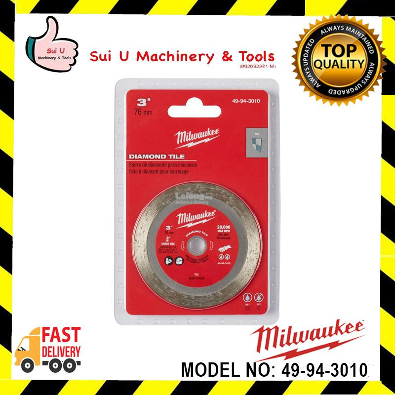 "Milwaukee (49-94-3010) 3"" (76mm) Tile Blade with 3/8"" Abore"