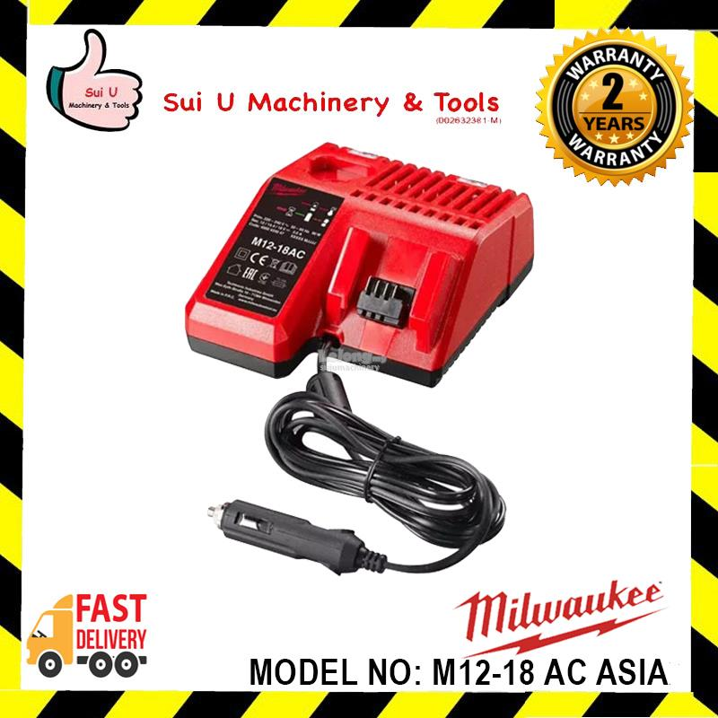Milwaukee M12-18 AC ASIA Vehicle 12 Volt Charger