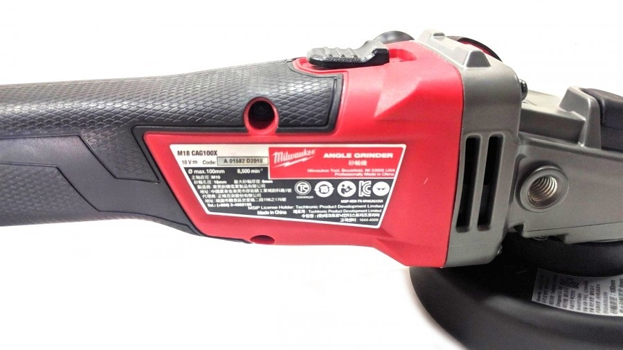 Milwaukee M18 CAG100X-502X 100mm Cordless Angle Grinder with 5Ah Batte