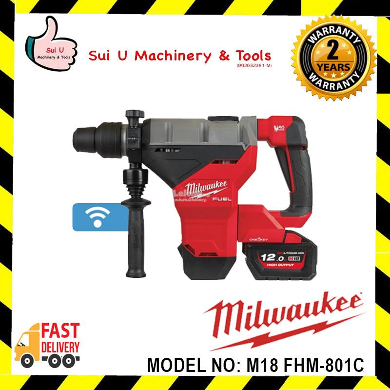 Milwaukee M18 FHM-801C FUEL 45mm SDS-MAX Combination Hammer c/w 8.0Ah