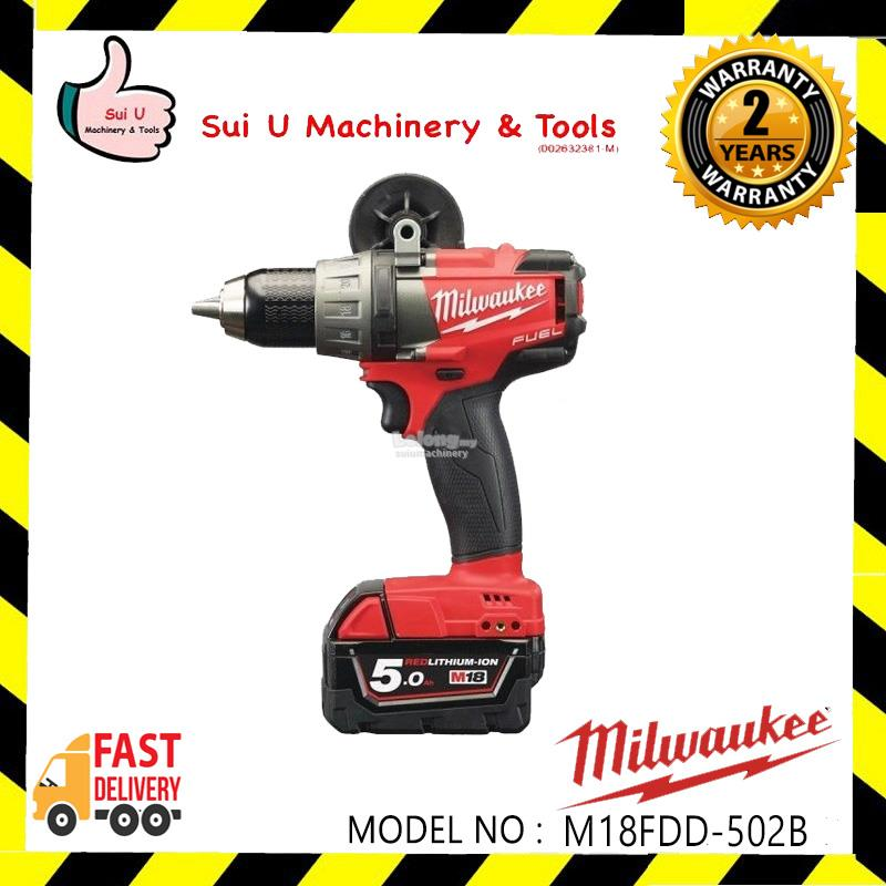 MILWAUKEE M18FDD-502B Fuel Drill Driver 13mm 5.0Ah