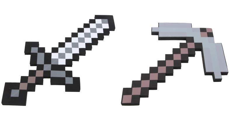 Minecraft Foam Based Iron Sword/Picaze