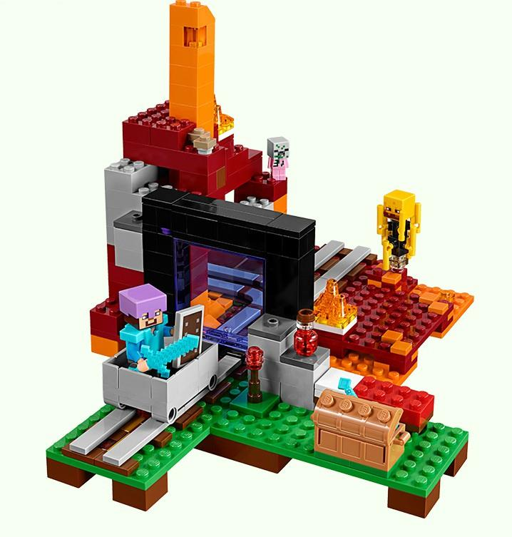 MINECRAFT THE NETHER PORTAL 21143 LEGO COMPATIBLE BRICK
