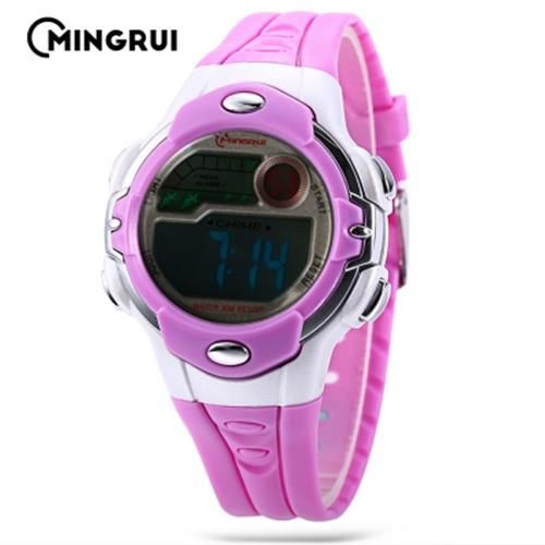 MINGRUI MR - 8532033 KIDS DIGITAL MOVT WATCH LED LIGHT DATE DAY CHRONOGRAPH 3A