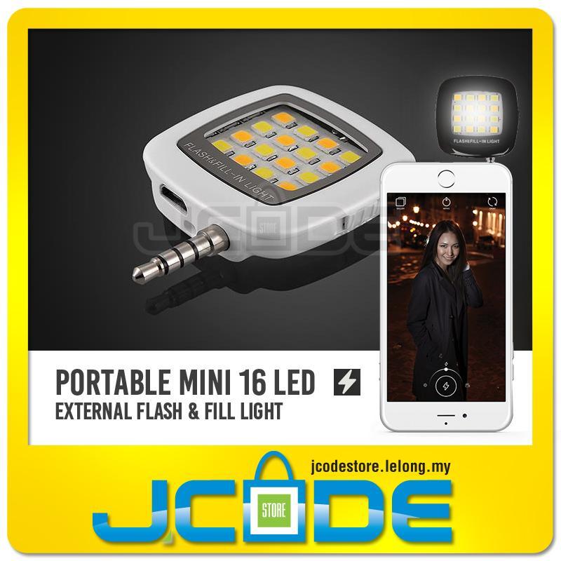 sports shoes c9882 4a86b Mini 16 LED External Flash & Fill Light Selfie for iPhone Smartphone