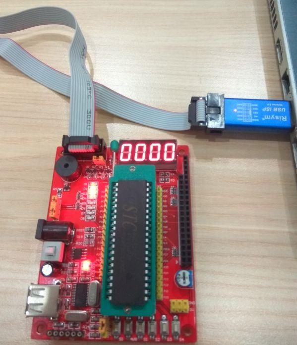 Mini 8051 development board+programmer+AT89S51