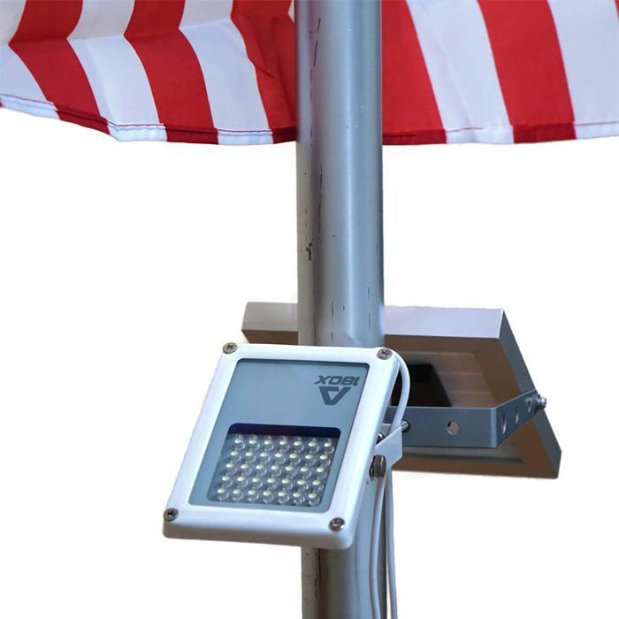 Mini Alpha180X Solar Flag Pole Flood Light Spotlight LED Lighting