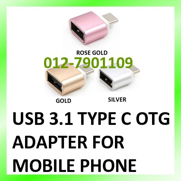 Mini Aluminum Alloy USB 3.1 Type C OTG Adapter Converter for Phone