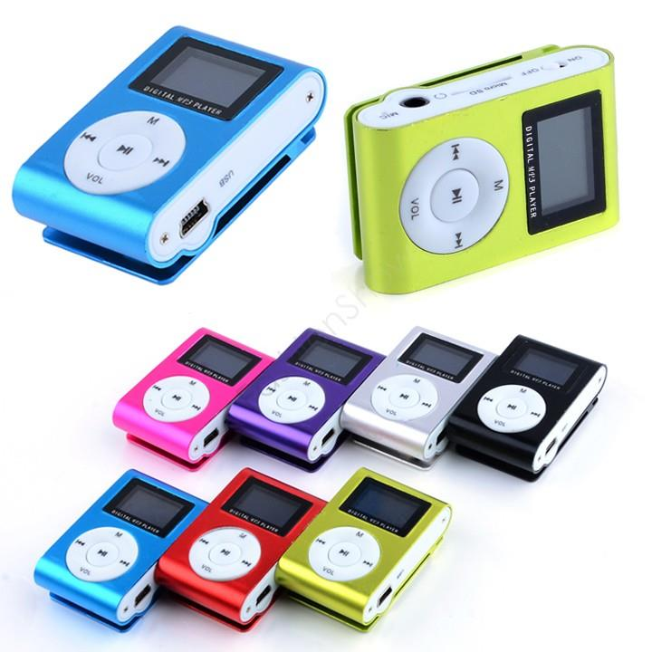 NEW MINI CLIP MP3 PLAYER WITH LCD SCREEN