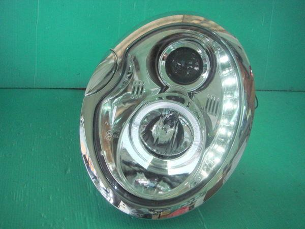 Mini Cooper One R53 R56 Crystal Chrome LED Head Lamp with R8 LED Eyeb