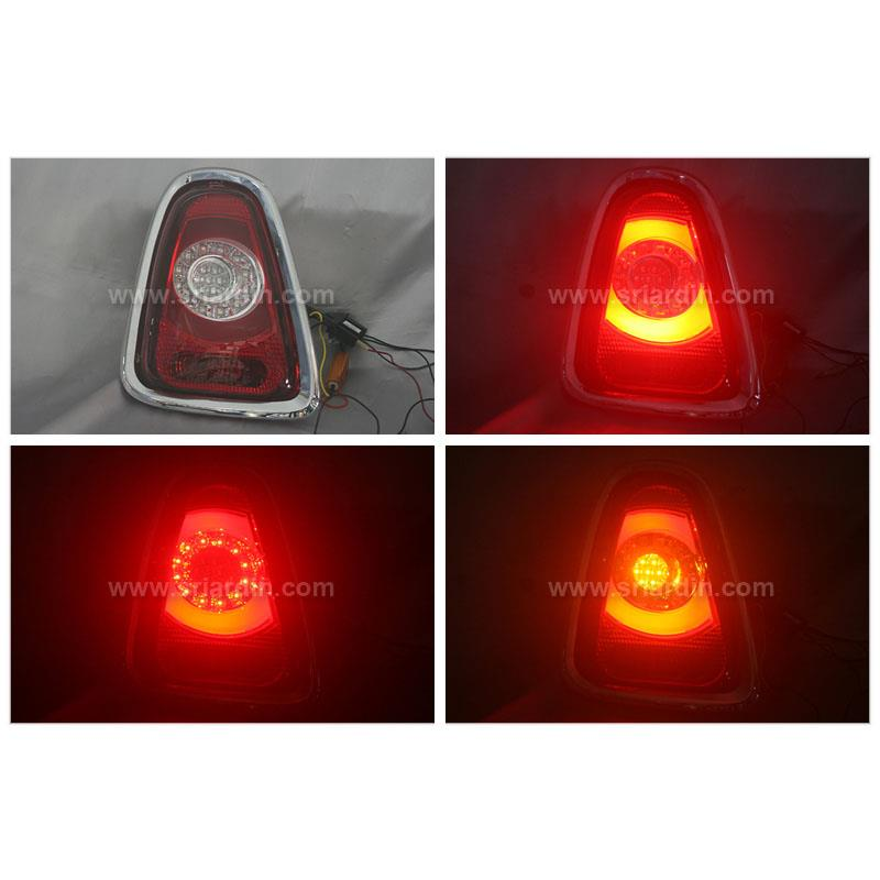 Mini Cooper R55/R56 11-13 Red Clear Light Bar LED Tail Lamp