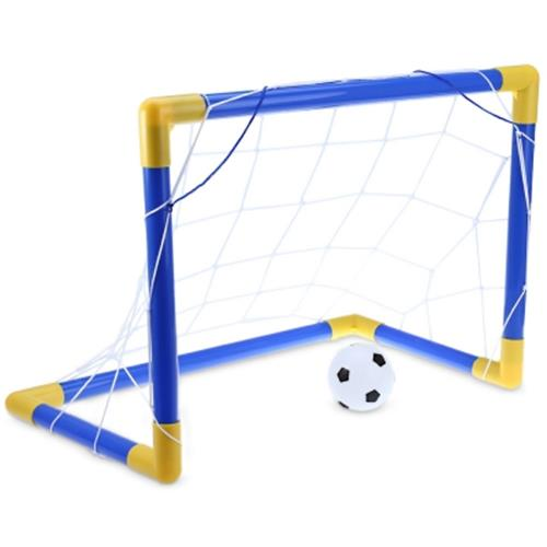 MINI FOOTBALL GOAL POST NET SET WITH PUMP OUTDOOR KIDS SPORT TOY