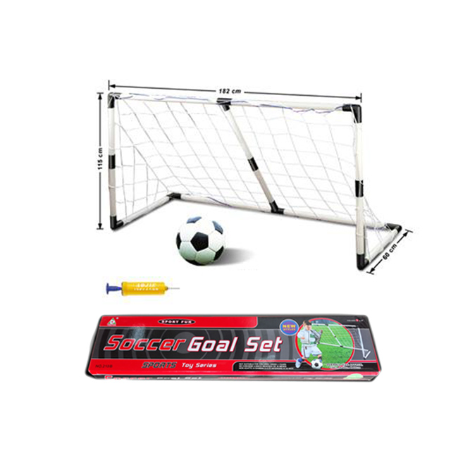 Mini Football Soccer Goal Net Set Pump Indoor Outdooor Kids Child
