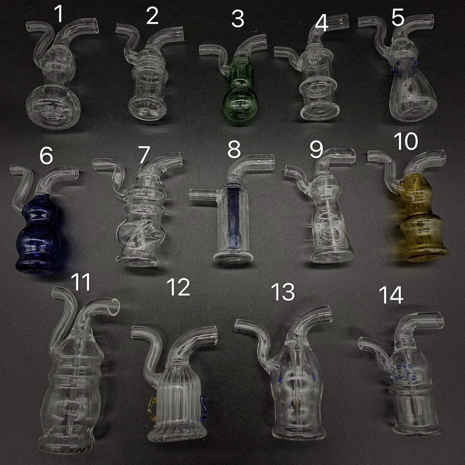 Mini Glass Portable Water Pipe set (Photo 20)