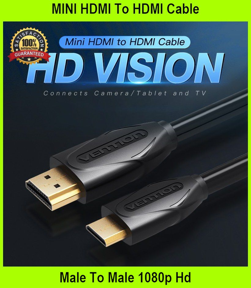 MINI HDMI To HDMI Cable Male To Male 1080p Hd 4K 3D HDMI Cable  - [2M]