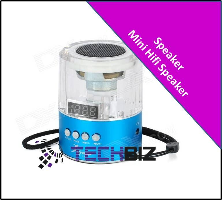 Mini-Hifi A028 1' LED Media Player Speaker w/ TF / FM / LED Colorful l