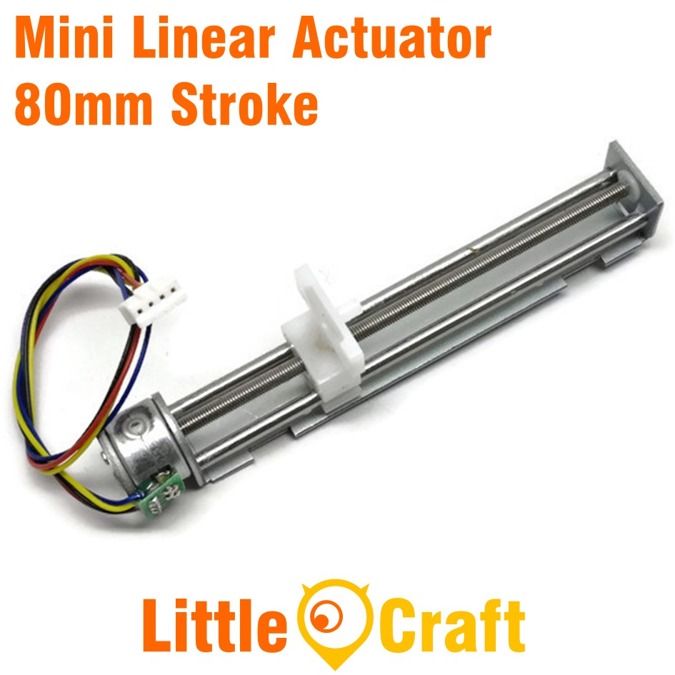 Mini Linear Actuator With Stepper Motor - 80mm Stroke - CNC
