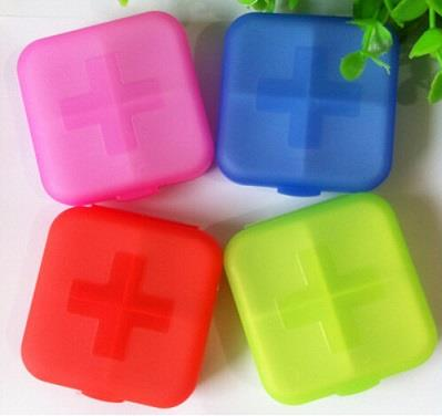 Mini Medicine Organizer Pill Box (4 Compartments)