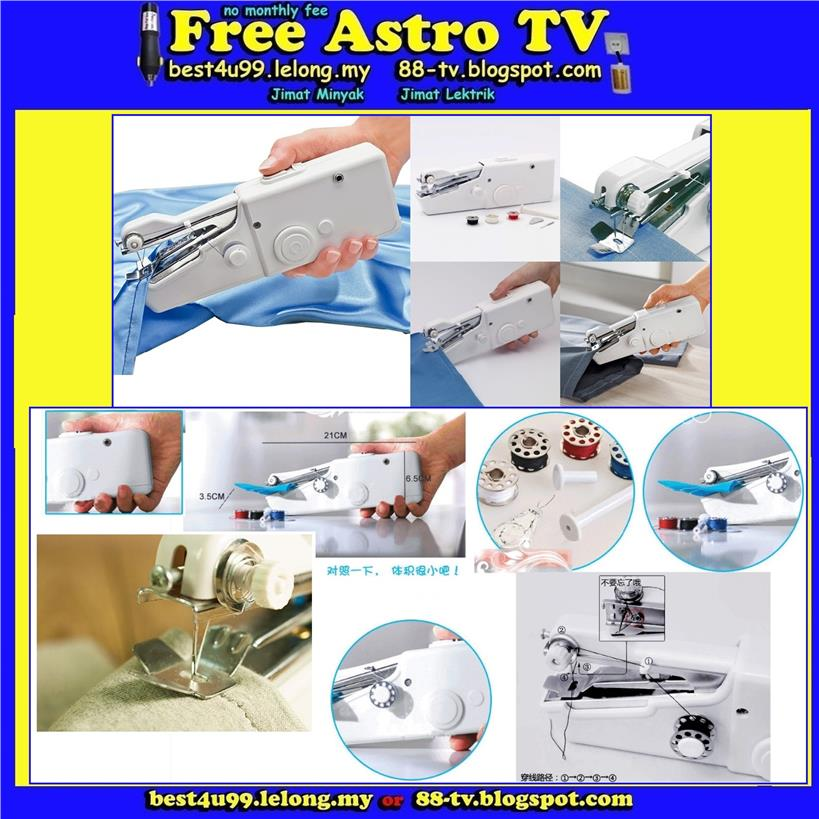 Mini Mesin Jahit Tangan As Seen On TV bateri battery Sewing Machine ss