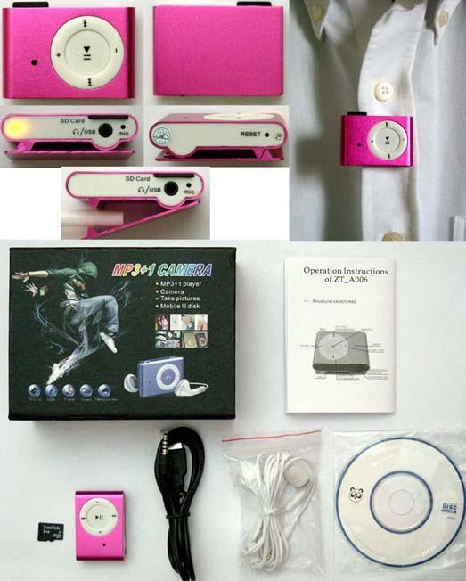 Mini MP3 Player With Spy Video Cam Function