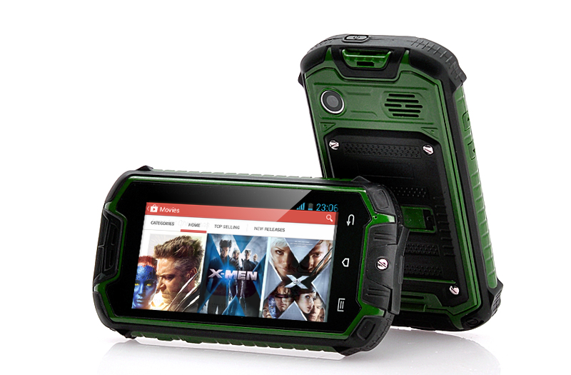 Mini Nano Rugged Mobile Phone Green