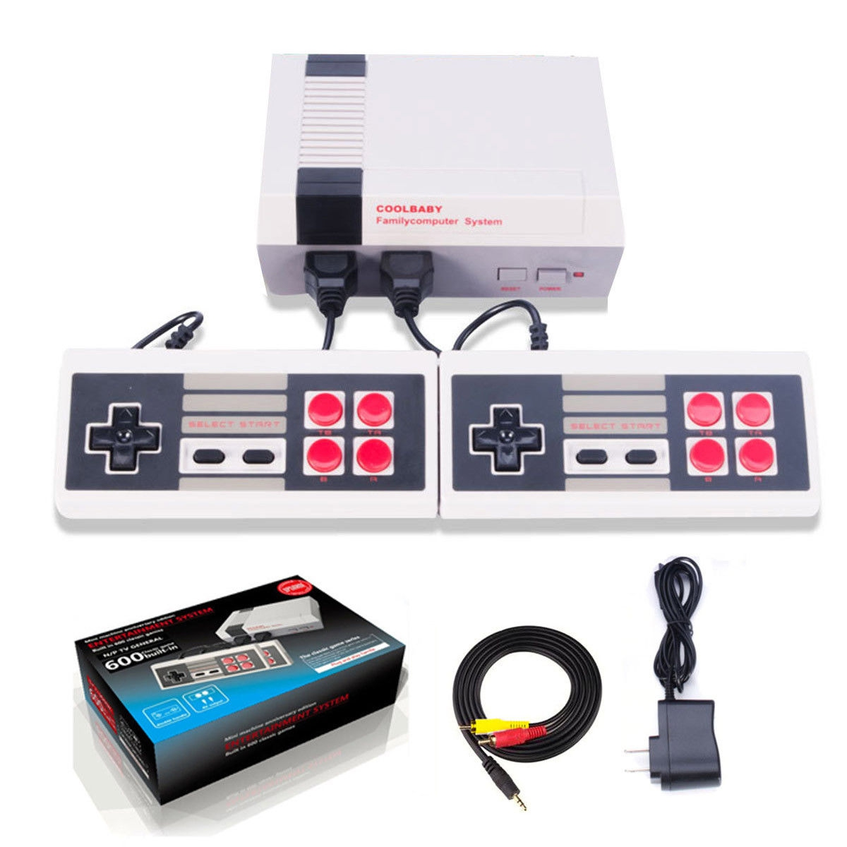 Mini NES - Game Console Built-in 600 Classic Games | Murah Harga Price