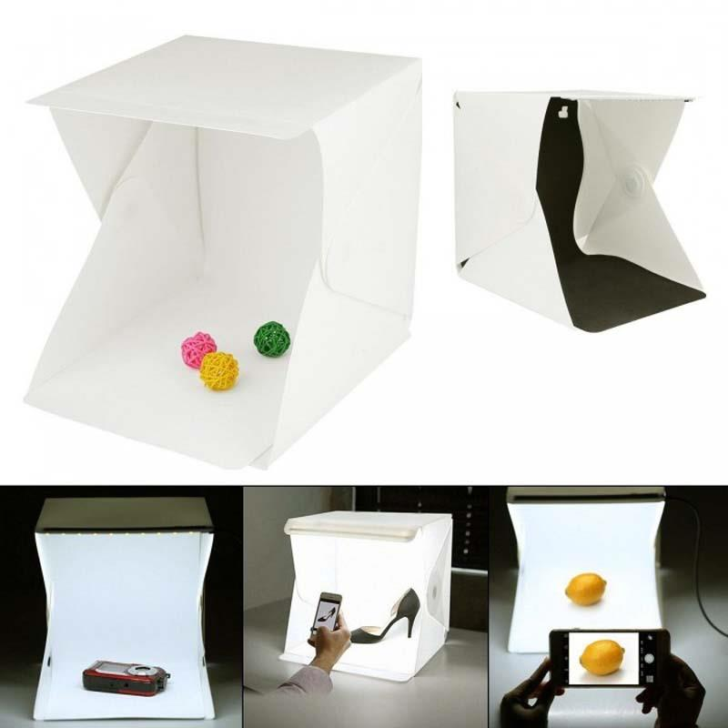 Mini Photo Studio Box Built-in Light Photography Backdrop