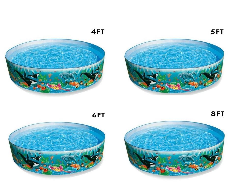 Mini Plastic Swimming Pool For Kids Family 4FT 5FT 6FT 8FT