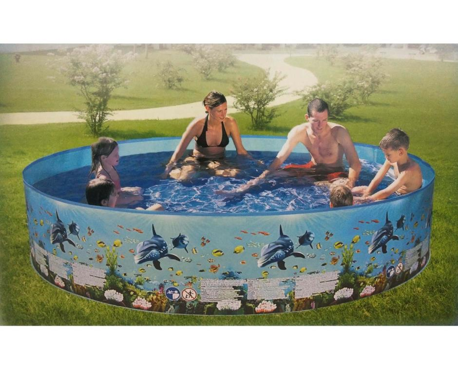 Mini Plastic Swimming Pool For Kids Family 4FT 5FT 6FT 8FT