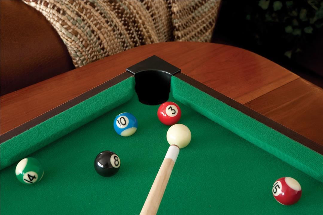 Mini Pool Table Wooden Frame Snooker Board Game Billiard Toy
