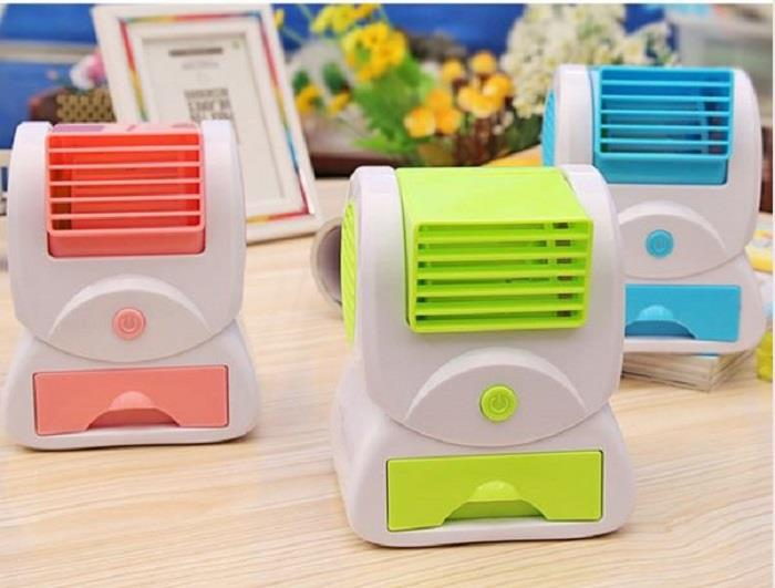 Mini Portable Desktop Air Conditioner Fan Table Desk Fan Bladeless USB