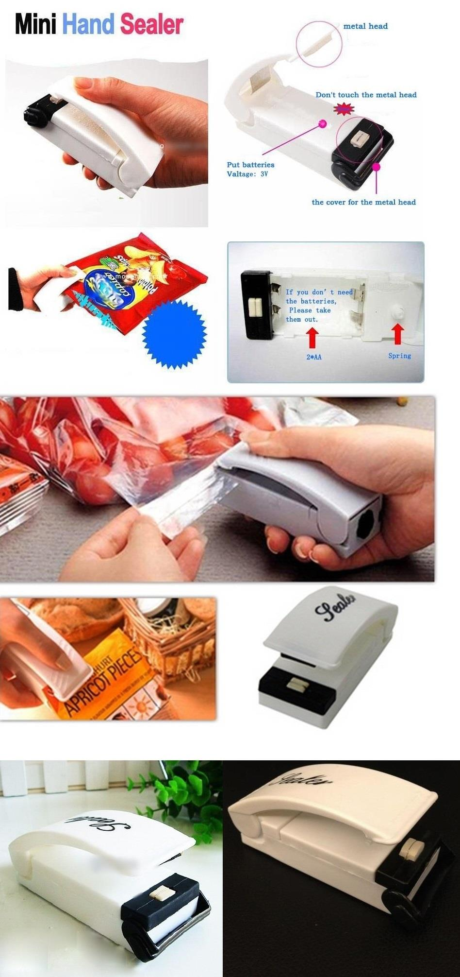 *Mini Portable^Hand Sealer Plastic Bag Food Storage Heat Seal