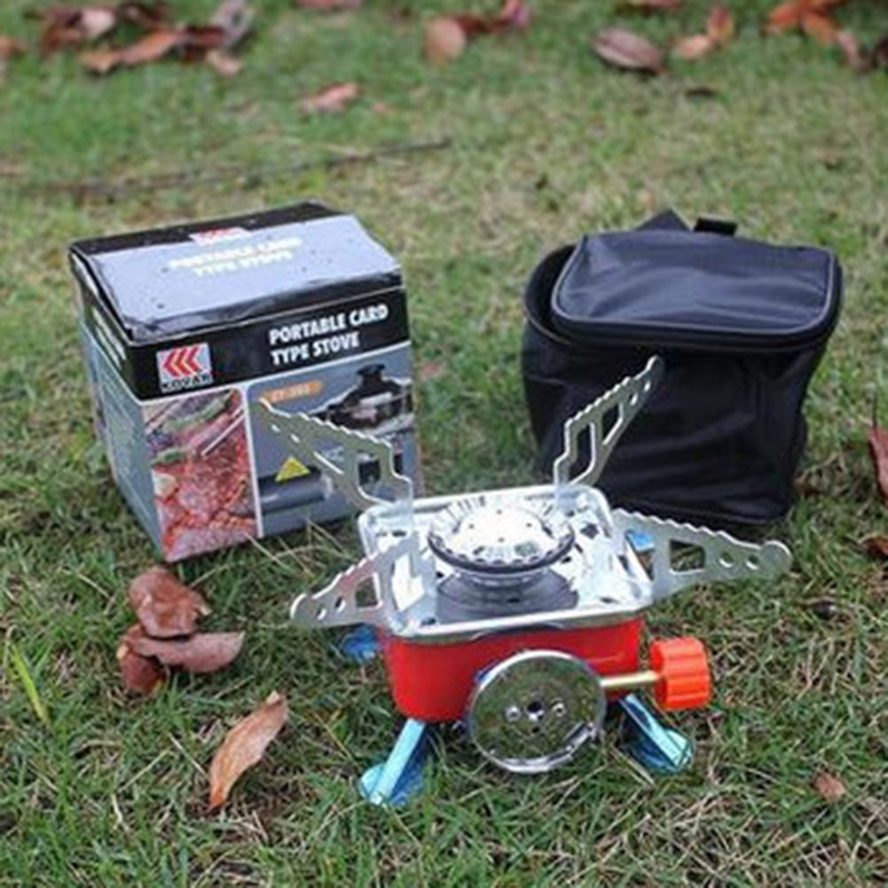 Mini Portable Lotus Camping Outdoor Picnic Gas Stove Cooking Windproof