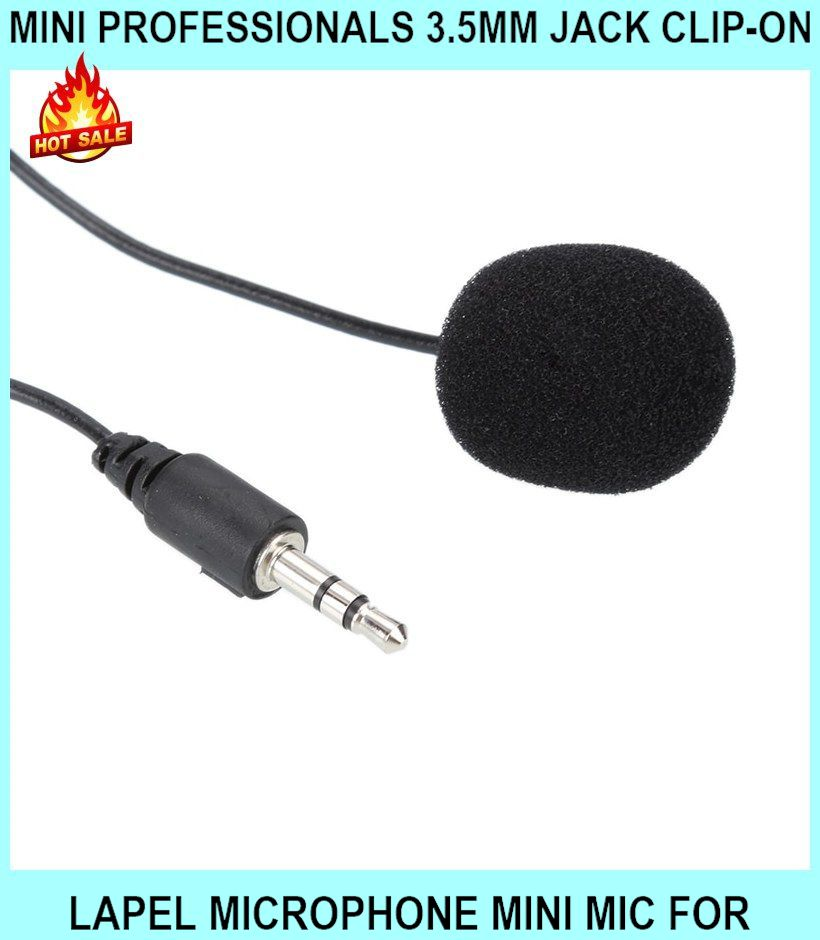 MINI Professionals 3.5mm Jack Clip-on Lapel Microphone MINI Mic For Pc