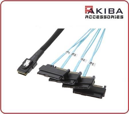 Mini SAS 36p SFF-8087 to 4x 29p SFF-8482 SAS Split Cable