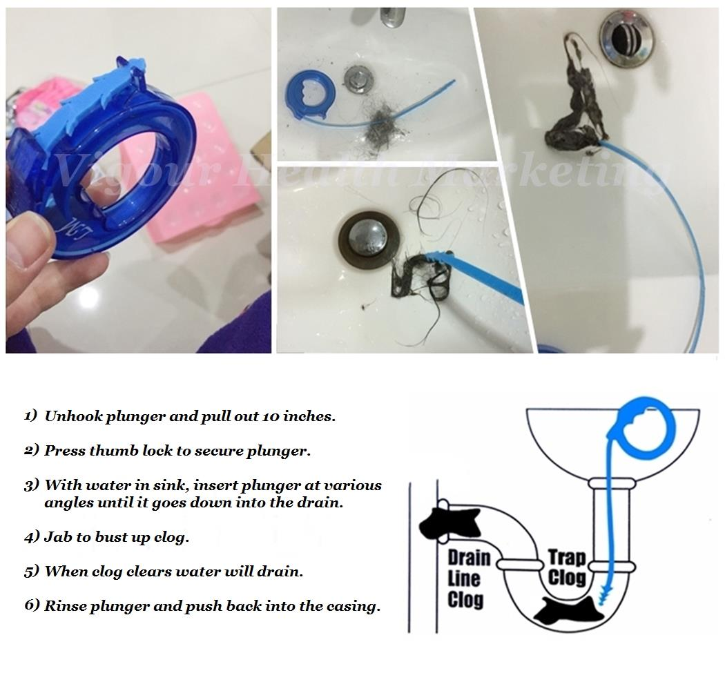 Mini-Snake Drain Opener For Kitchen (end 6/26/2017 6:15 PM)