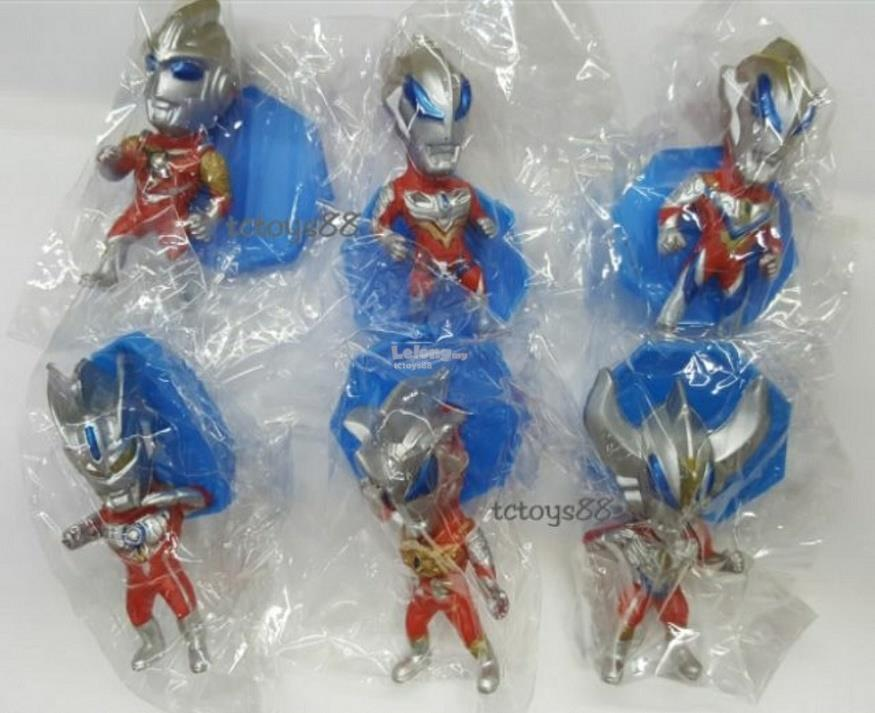Mini Ultraman Figure Ultraman Figurine Toy / Cake Topper 6 pcs set