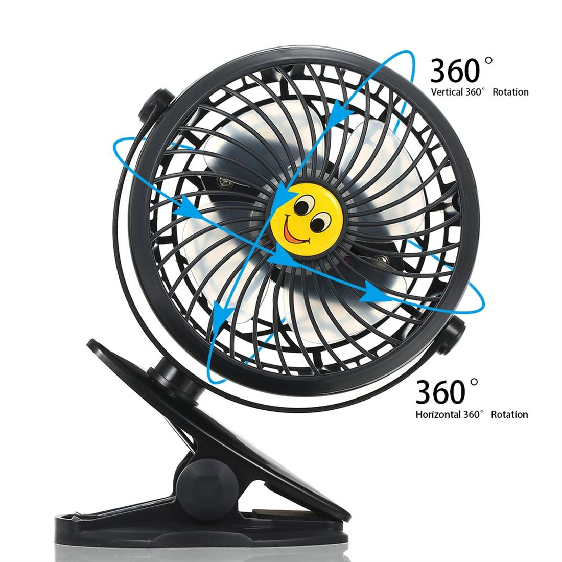 Mini USB Clip and Desk Personal Fan 2 Speed Mode Flexible 360°