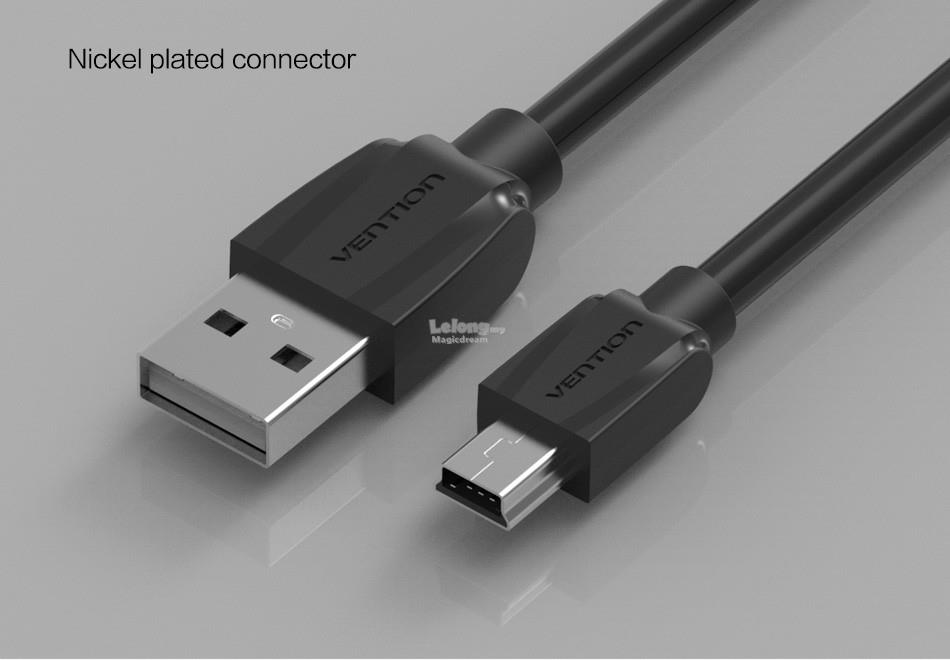 Mini usb to usb data charger cable