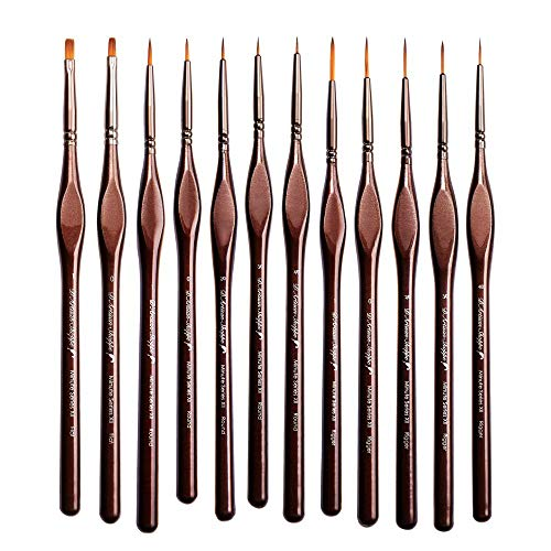 Miniature Paint Brushes Detail Set -12pc Minute Series XII Miniature Brushes f